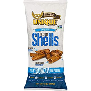 Unique Pretzels - Original Pretzel Shells, Delicious Vegan Snack Pretzels Individual Pack, Large OU Kosher Pretzels, 10 Oz Bags, 12 Pack (10 Shells)