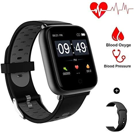Aeifond Smart Watch Fitness Tracker Compatible Android iPhone iOS Samsung, Healthy Exercise Smartwatch IP67 Waterproof Activity Tracker Heart Rate Blood Pressure (Grey) 41Hw8L1cFEL