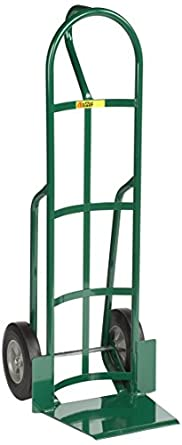 600 lb Capacity Green Little Giant T-364-10FF Shovel Nose Hand Truck with Loop Handle