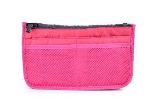 12 corsa dell'organizzatore Red di inserisce borsa il sacchetto cosmetico black tasche rose della Lyuboov 4q6U4