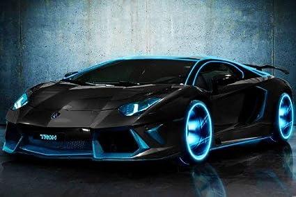 EH3688 Lamborghini Aventador Tron Modified Customized Car 16 x25 inch  Poster Print Frameless Art Gift 40 x 63 cm: Amazon.in: Home & Kitchen