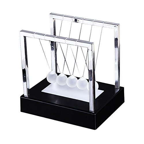 Orcbee  _Newtons Cradle LED Light Up Kinetic Energy Home Office Science Toys Home Decor (Black)