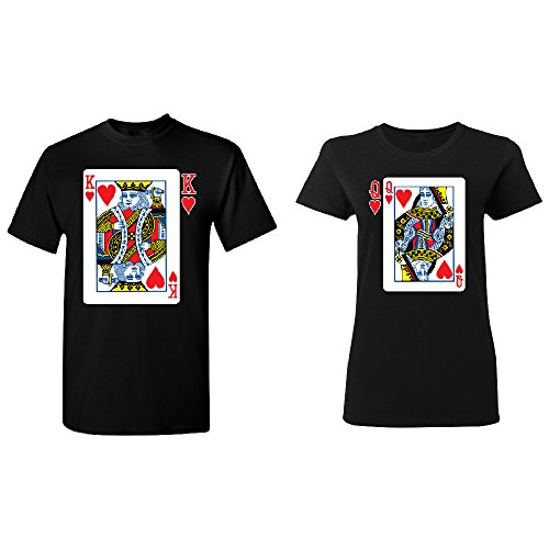 35115f881c Card Heart King Queen Couple Matching T-shirt Set Valentine's BEA  Anniversary