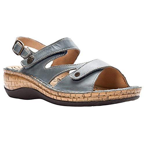 (DDDatian Women's Leather Slingback Sandals,Thomid,Denim)