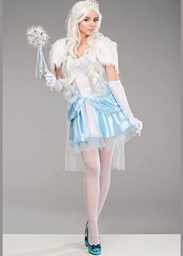 Magic Box Disfraz de Reina de Nieve Linda de Navidad para Mujer S ...