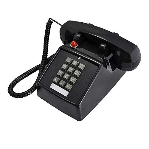 Home Intuition Amplified Single Line Corded Desk Telephone with Extra Loud Ringer, (Red White Black) (Single Line Loud Ringer)