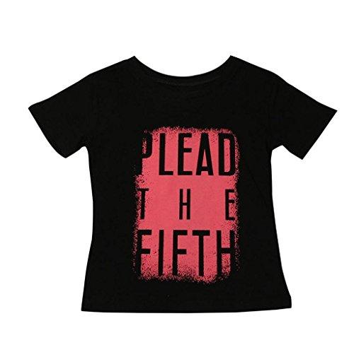 Singleluci Toddler/Infant Kids Summer T-Shirt (4T, Black)