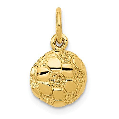 Mia Diamonds 14k Yellow Gold Soccer Ball Charm (15mm x -