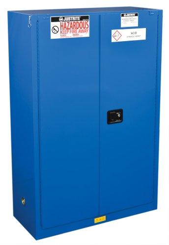 Justrite 864528 Hazardous material Steel Safety Cabinet, 4 gal, Steel, Blue - Justrite Blue Safety Storage Cabinet