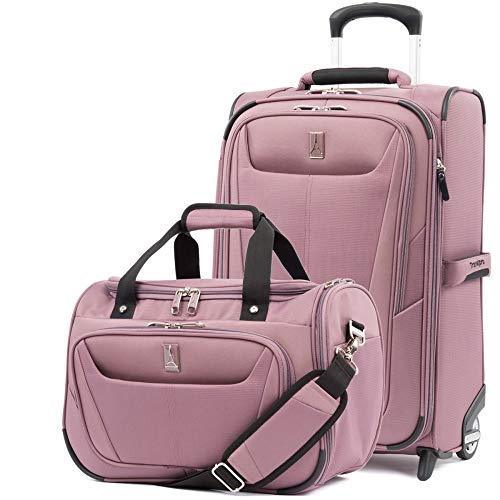 - Travelpro Luggage Maxlite 5 | 2-Piece Set | Soft Tote and 22-Inch Rollaboard (Dusty Rose)