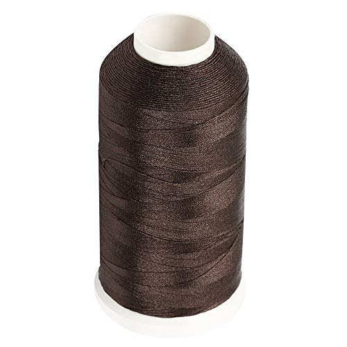 69 Leather - Desirable Life Bonded Nylon N66 Sewing Thread 1500 Yards Size #69 T70 210D/3 for Leather Denim Hand Machine Craft Shoe Bag Repairing Extra Strong Heavy Duty UV Rays Resistant Waterproof (Brown)