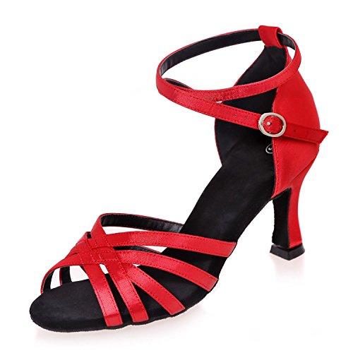 Danse PersonnaliséS Sandales De Multicolor Taille Peuvent De YC êTre De Couleur Grande De Et Red L Plus Chaussures OqFRApcEv