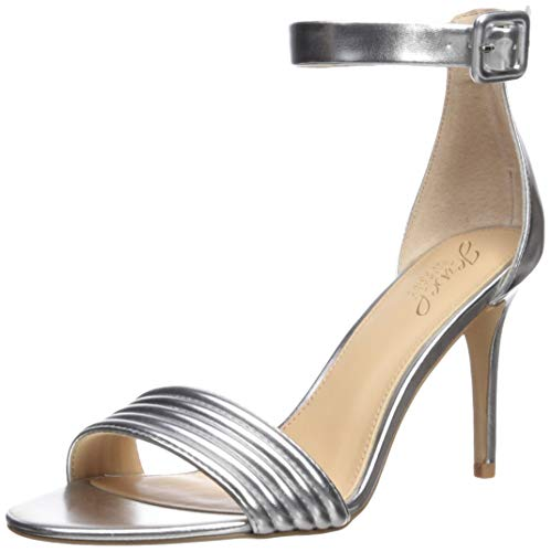 Badgley Mischka Jewel Women's Kristina Heeled Sandal, Silver/Metallic, 7 M - Jewel Metallic Sandals