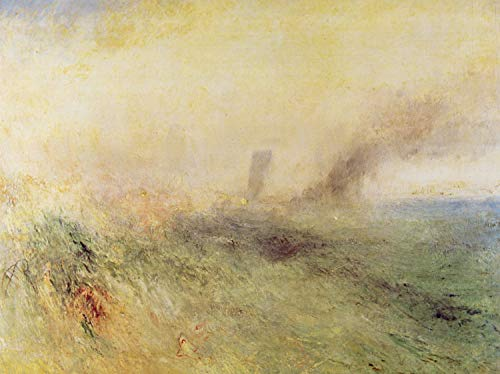 Home Comforts Peel-n-Stick Poster of Turner, Joseph Mallord William - Seascape Vivid Imagery Poster 24 x 16 Adhesive Sticker Poster Print