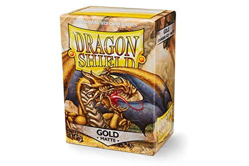 Combination Sleeve - Sleeves: Dragon Shield Matte Gold
