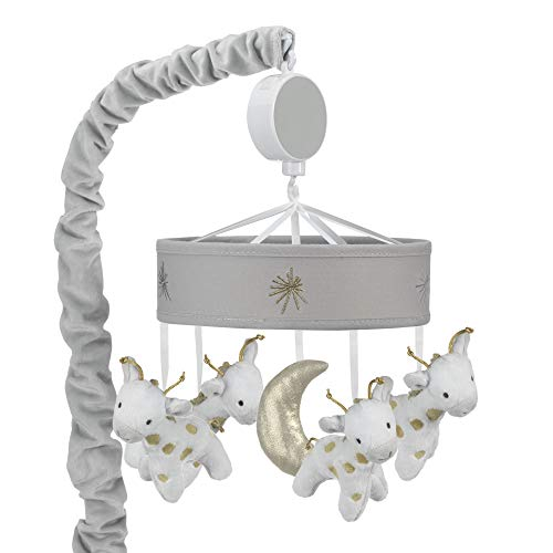 Lambs & Ivy Signature Goodnight Giraffe Moonbeams Musical Baby Crib Mobile - Lambs & Ivy Crib Mobile