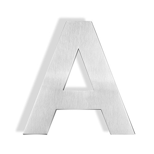 Mellewell 6-inch Floating Letters Number Sign House Letter A Brushed Nickel, Made of Stainless Steel 304, HN06-A by Mellewell