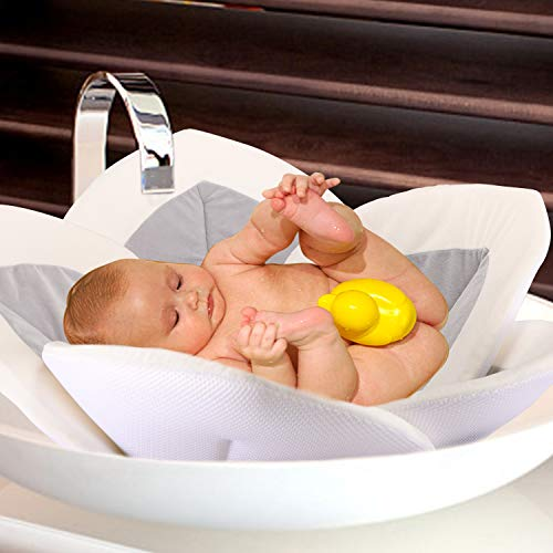 41HwBjR1vtL - Baby Bath - Flower Baby Bath Pad Infant Bathtub Mat For Bathtub Tub Sink - Gray2