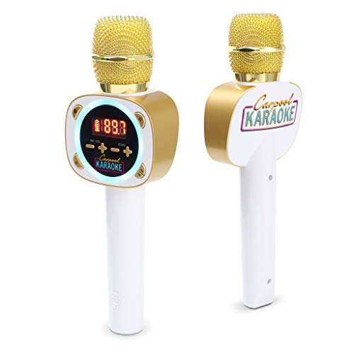 - Singing Machine Official Carpool Karaoke, The Mic, Bluetooth Microphone for Cars, White (CPK545)