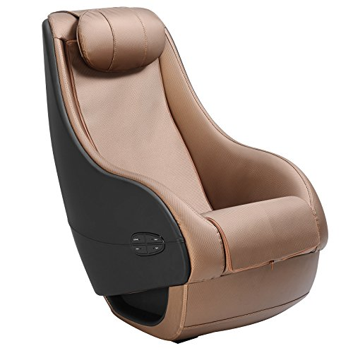 Murtisol Massage Chair Massage Recliner Fully Assembled/Curved Long Rail/Shiatsu/ PU Leather Brown