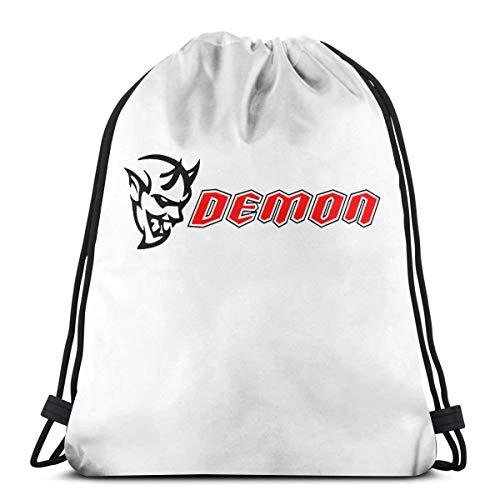 Price comparison product image NEST-Homer Dodge Challenger SRT Demon Drawstring Backpack Polyester School Rucksack Shoulder Bags Gym Backpack Tote