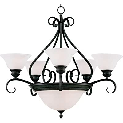 Maxim Lighting Seven Light Wilshire Glass Up Chandelier