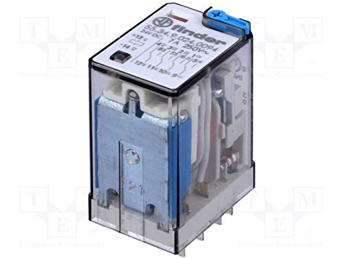 24 VDC Contact max 7 A Finder 553490240094 Relais /électromagn/étique 4PDT Bobine