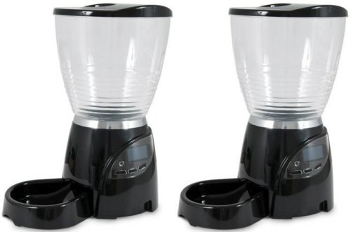 Petmate 10LB Le Bistro Automatic Dog Cat Feeder x2 Case by Petmate