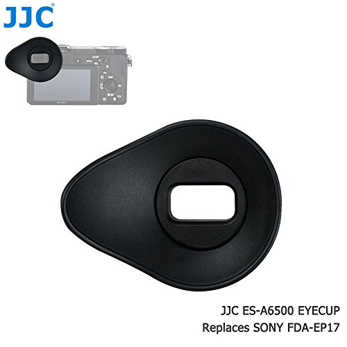 JJC ES-A6500 Oval Shape Soft Silicone 360º Rotatable Ergonomic Camera Viewfinder Eyecup Eyepiece for Sony Alpha A6500, replaces Sony FDA-EP17 Eyecup