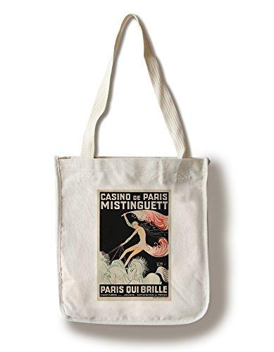 Lantern Press France - Casino de Paris - Mistinguett Paris Qui Brille - (Artist: Zig c. 1931) - Vintage Advertisement (100% Cotton Tote Bag - Reusable) (Design Brillen)