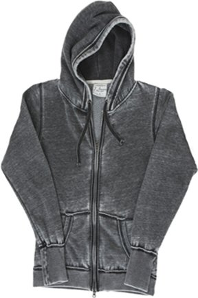 Ladies ZEN Full Zip Hooded Sweatshirt - Dark Smoke Gray
