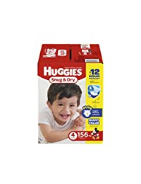 HUGGIES Snug & Dry Diapers, Size 4, 156 Count (Packaging May Vary) BOBEBE Online Baby Store From New York to Miami and Los Angeles