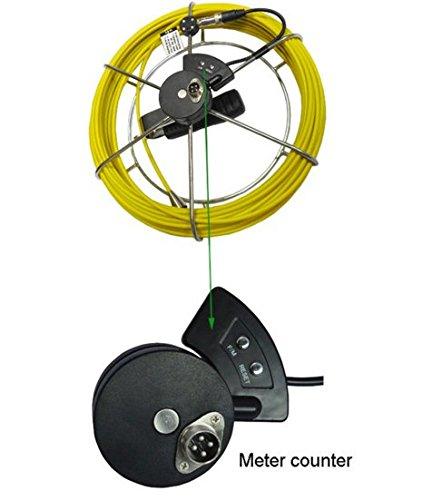 30M fibra de vidrio carrete alargador de cable con mostrador de Meter para tubo cámara de inspección