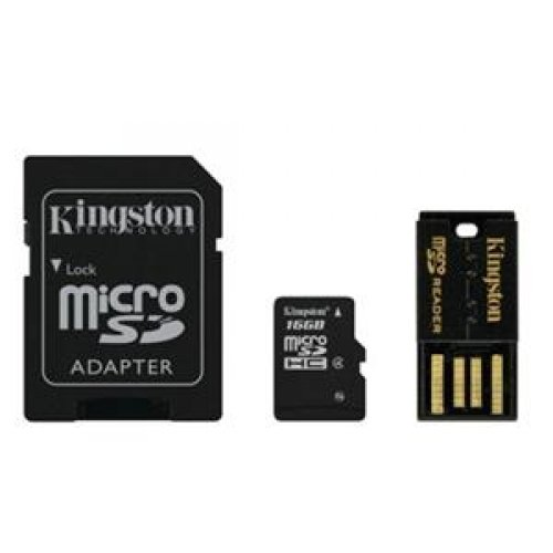 Kingston Mbly4g2/16gb Microsd High Capacity All-in-one Media Kit Class 4 Popular 1 Piece
