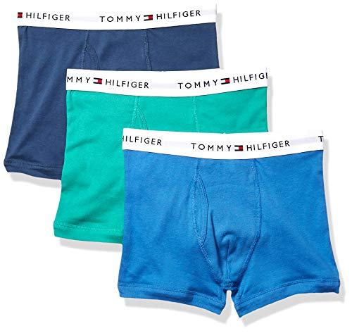 Tommy Hilfiger Men's Underwear Multipack Cotton Classics Trunks, Shamrock (Multi 3 Pack), L