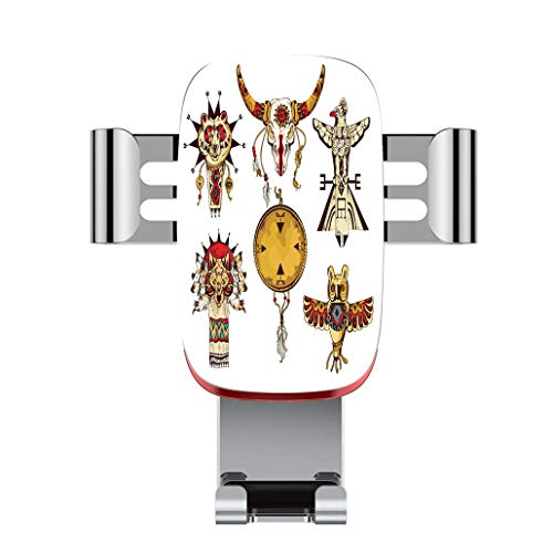 b527d8409a8c Metal automatic car phone holder,Ethnic,Native American Tribes Animal  Totems Collection Ancient Cultures Sketch D,adjustable 360 degree rotation,  car ...