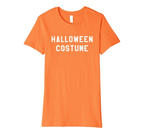 [Womens Halloween Costume T-Shirt Last Minute Halloween Party Tee Large Orange] (Last Minute Halloween Costumes For Plus Size Women)