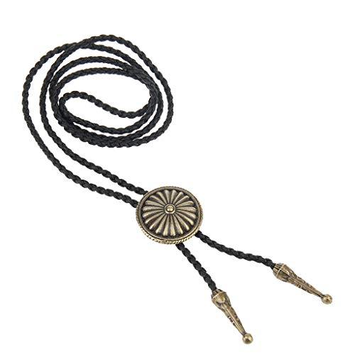 - Western Tie Clips Women Men Bolo Tie Wedding Party Native American Necklaces Necklace Jewelry Crafting Key Chain Bracelet Pendants Accessories Best| Color - Bronze