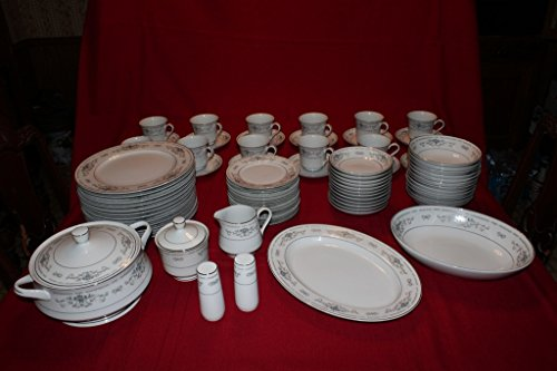 Diane by Fine China of Japan - Serving Set of 12 PLUS MORE - 80 Pieces Total