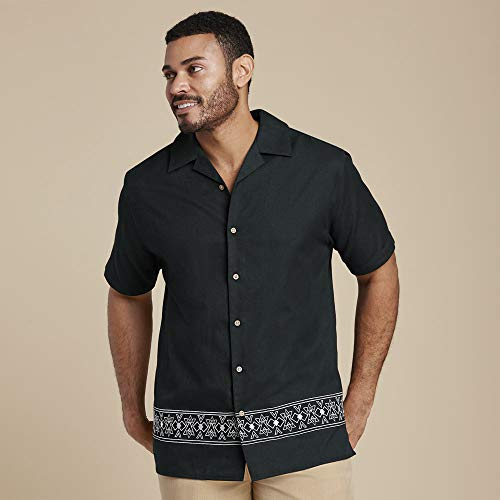 Mason Signature Men's Embroidered Shirt XL Black