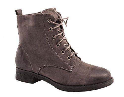 Elara - botas estilo motero Mujer gris
