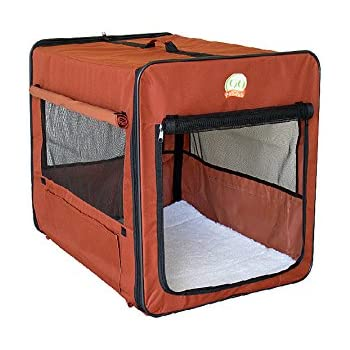 Go Pet Club AB32 Soft Dog Crate, Brown - 32 inches L x 22.2 inches W x 23.5 inches H