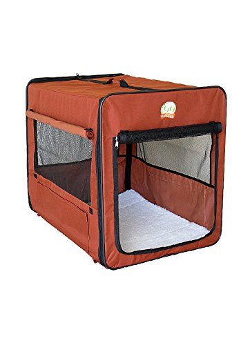Go Pet Club AB25 Soft Dog Crate, Brown - 25 (Go Dog Dog Crate)