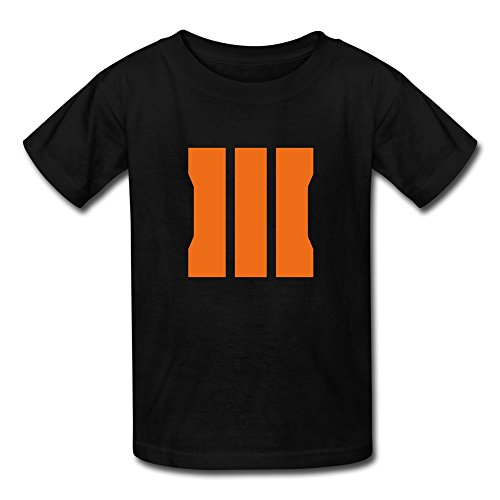 Price comparison product image Boys And Girls Call Of Duty Black Ops III 3 Logo T-shirts Small Black