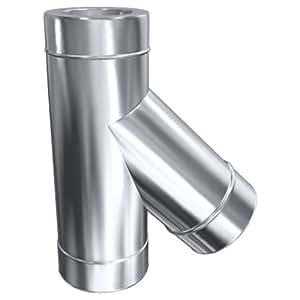 feuerung Conexión A 45° con reducción de 150mm (210mm) doble pared