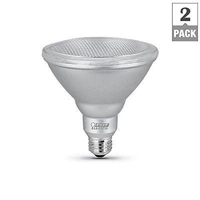 Feit Electric 90-Watt Equivalent PAR38 Dimmable CEC LED Energy Star 90+ CRI Flood Light Bulb Daylight (2-Pack)