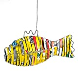 BESTChoiceForYou Recycled Tin Fish Recycled Can Ornament Christmas Aluminum Handmade Metal Beer Soda Traditional Cola Colorful Outdoor Tropical Patio Indoor Hanging