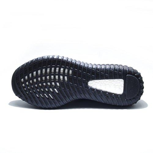 Yaoxi Amplificare 350 V2 Uomini Donne Tessuto Mesh Traspirante Scarpe Moda Casual Scarpe Da Ginnastica Di Fitness Scarpe Da Corsa Unisex Nero Arancione