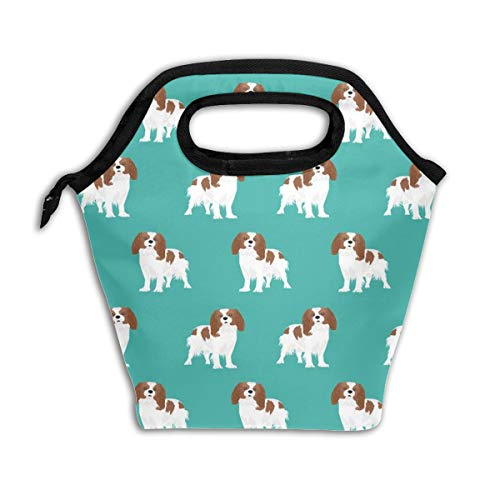 - Cavalier King Charles Spaniel Blenheim Dog Spaniel_509 Lunch Bag Insulated Lunch Box Reusable Lunch Tote Cooler Organizer Bag Lunch Bags for Women,Men and Kids Adults