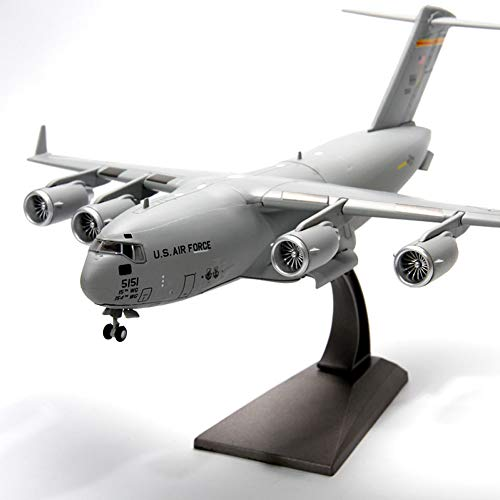 (Marreto New 1/200 Scale Military USAF C-17 Globemaster Iii Tactical Transport Aircraft Diecast Metal Plane Model Toy Retail Box)